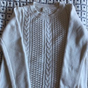 J Crew cable knit sweater